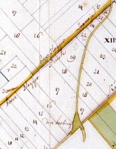 fragment van de kaart van Cornelis Groenlandt waarnaar ook zal worden gelinkt
