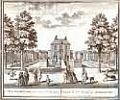 H. de Leth, vooraanzicht Meerestein, 1728