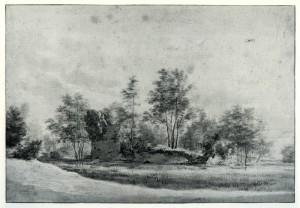De ruïne Rietwijk die rond 1640 door Roghman werd getekend