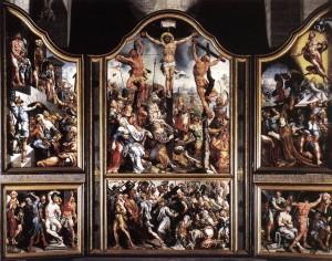 Triptiek (voorzijde) geschilderd 1539-1543