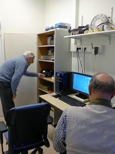 "George Gerritsen (achtergrond) en Jan Zweeris in ""hun werkgebied"""